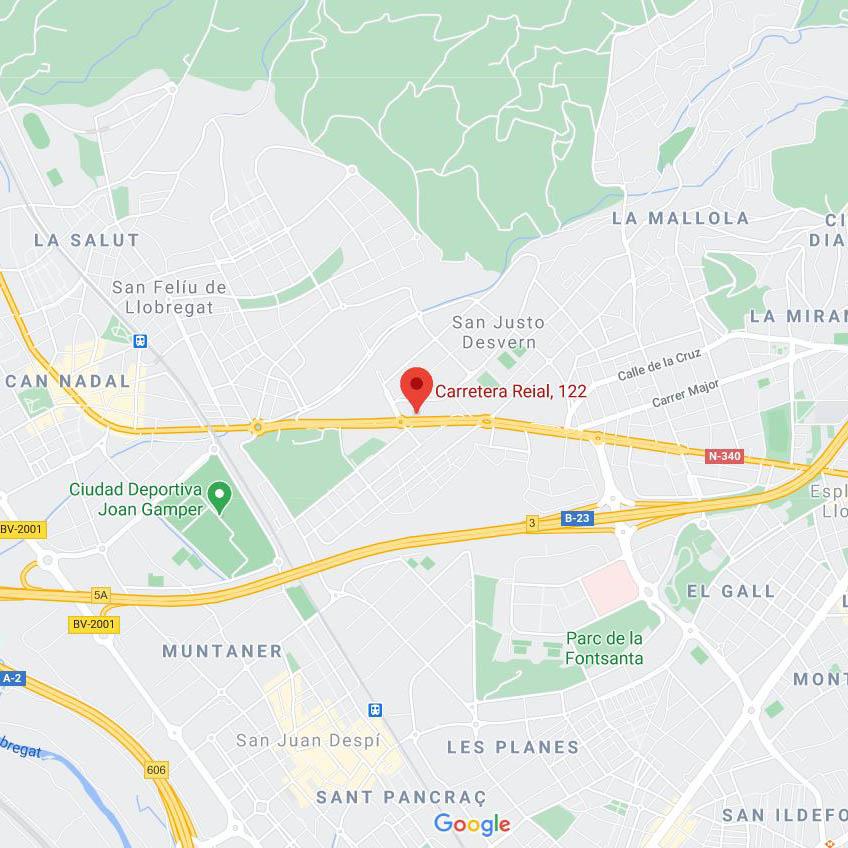 Mapa ubicación de la empresa SerNet